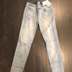 Mid Rise Distressed Denim Jeans Size 1
